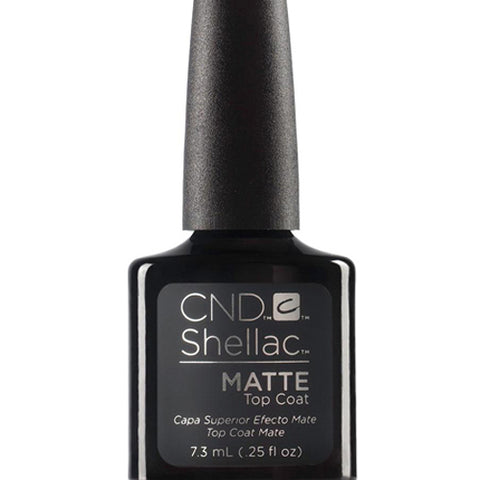 CND Shellac - Matte Top Coat 0.25 oz - Milky Beauty