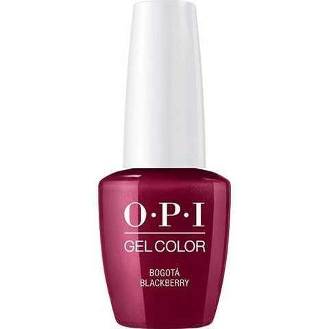 OPI Gel Color - Bogota Blackberry  0.5 oz - GCF52 - Milky Beauty