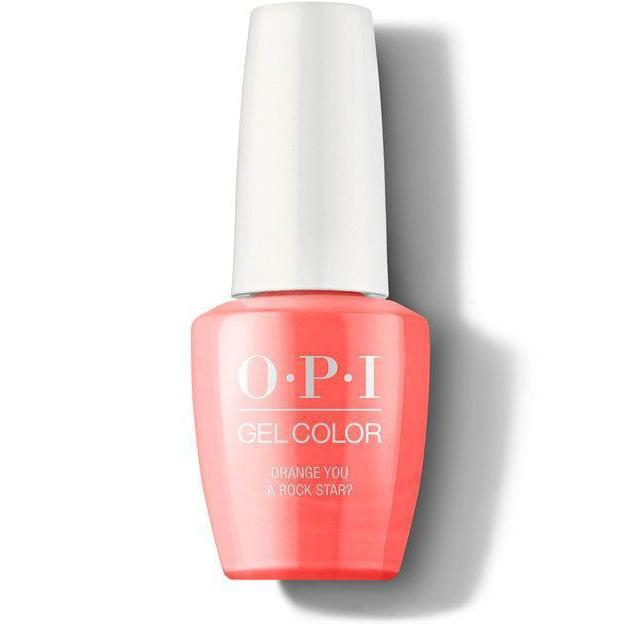 OPI Gel Color - Orange You a Rock Star? 0.5 oz - GCN71 - Milky Beauty