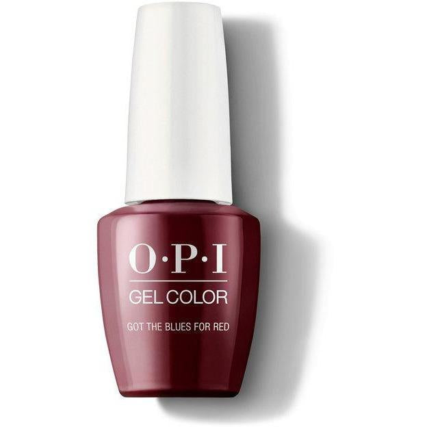 OPI Gel Color - Got The Blues For Red 0.5 oz - GCW52 - Milky Beauty