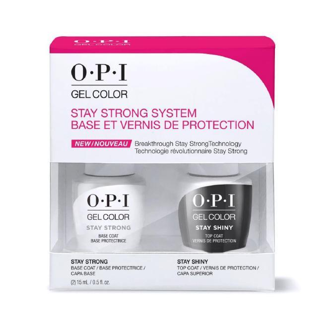 OPI Gel Color - Stay Strong Base & Stay Shiny Top Coat Duo Pack 0.5 oz