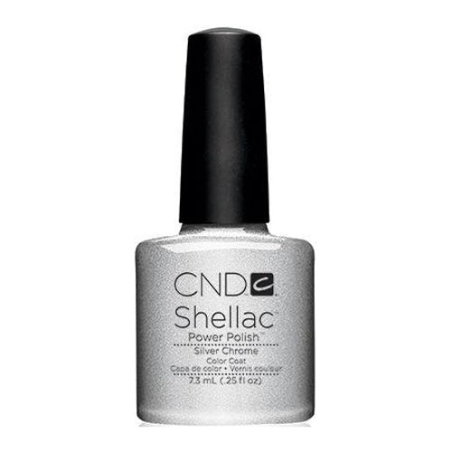 CND Shellac - Silver Chrome 0.25 oz - Milky Beauty