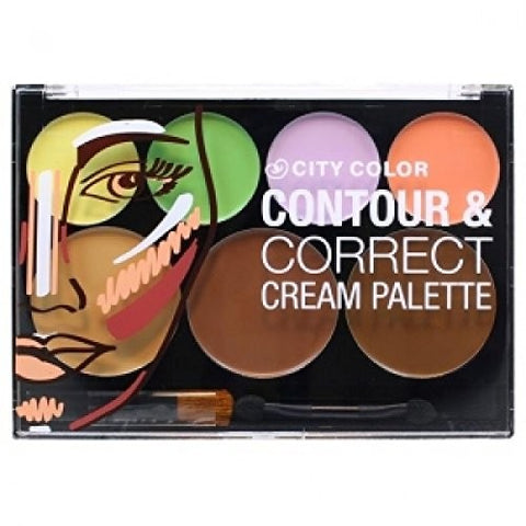 City Color Contour & Correct Cream Palette - All-In-One - Milky Beauty