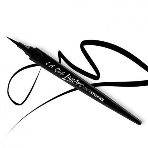LA Girl Line Art Matte Eyeliner GLE712 Intense Black - Milky Beauty