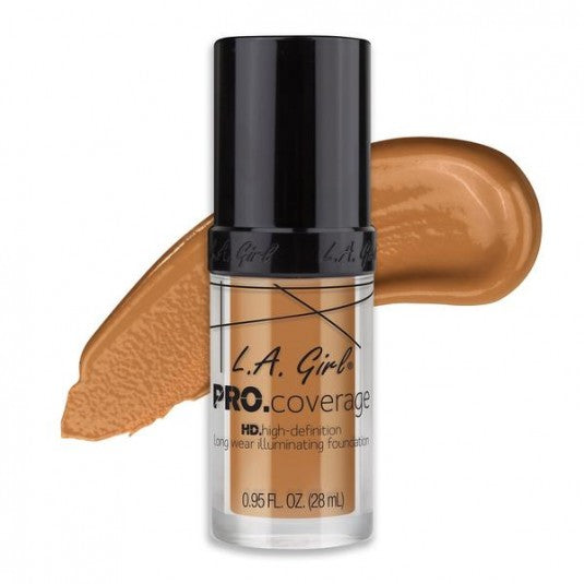 LA Girl Pro Coverage Illuminating Foundation-GLM647 Warm Beige - Milky Beauty