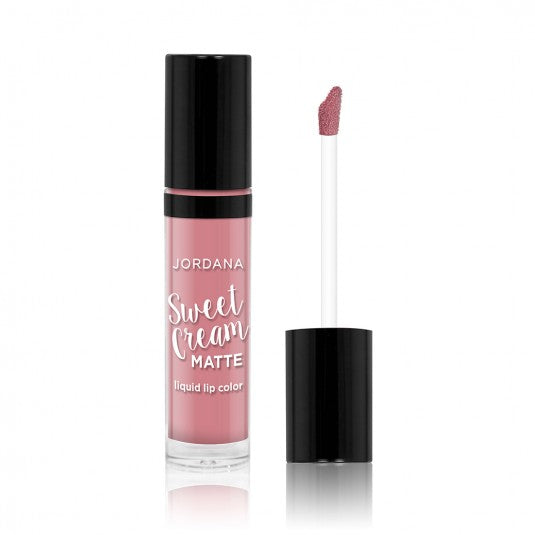 Jordana Sweet Cream Matte Liquid Lip Color -01 Creme Brulee - Milky Beauty