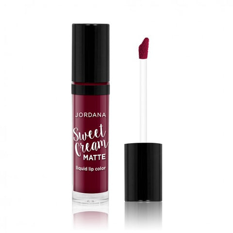 Jordana Sweet Cream Matte Liquid Lip Color -08 Sweet Marsala Wine - Milky Beauty