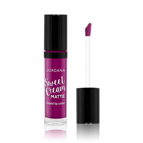 Jordana Sweet Cream Matte Liquid Lip Color -10 Sugared Plum - Milky Beauty