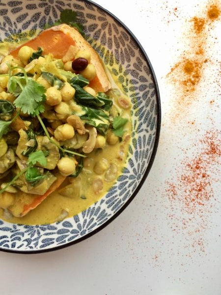RECIPE: Sweet potato jacket with chickpea curry