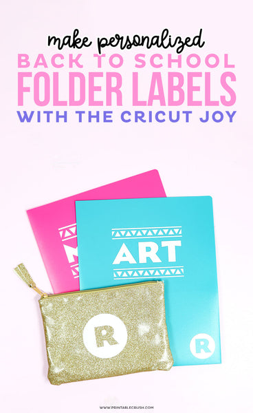 Personalized Back to School Folders with the Cricut Joy