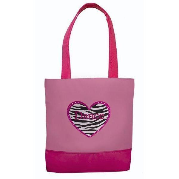 New Dance Bag Sassi Designs Zebra Heart Dance Tote ZHD-03