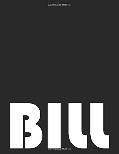 Bill: Monthly Bill Payment Checklist Organizer and Money Debt Tracker Log Book