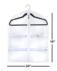 Products small clear dance garment bag 19 inch x 24 inch suit dress and costumes hanging travel storage for clothes shoes and accessories water resistant organizer