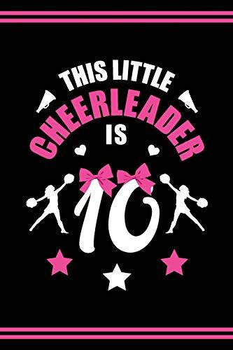 Cheerleader Book Girls Cheerleading Journal: Blank Lined Notebook + Goals and Wish List | 10th Birthday Little Girl Cheerleader Book | Black Pink Cover with Cheerleader Bow