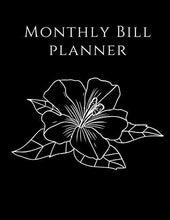 Load image into Gallery viewer, Monthly Bill Planner: Marble Floral Cover | Simple Monthly Bill Payment Checklist Tracker Log Book Organizer Planner | Bills Due Calendar | Money Debt Family Budgeting Financial Notebook