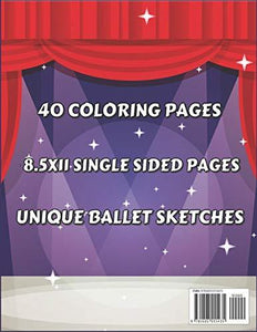 Ballerina Coloring Book for Girls 4-8: Ballet Themed Gift Idea for Little Dancers to Color Pages with Dancing Related Supplies & Accessories - Pretty Birthday Present for Dance Kids
