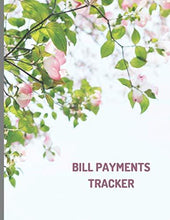 Load image into Gallery viewer, Bill payments tracker: Simple Monthly Bill Payment Checklist Tracker Log Book, Organizer, Planner ; Bills Due Calendar;Money Debt; Family Budgeting; Financial Planning Journey Notebook