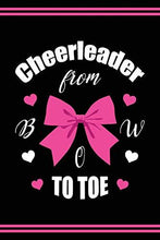 Load image into Gallery viewer, Cheerleader Book Girls Cheerleading Journal: Blank Lined Notebook + Goals and Wish List | Cheerleader From Bow To Toe | Black Pink Cover with Cheerleader Silhouette