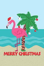 Load image into Gallery viewer, Merry Christmas Pink Flamingo Santa Hat Daily Writing Journal Paper: To Do List Notebook Planner, 130 Lined Pages 6 x 9 School Teachers, Student Exercise Subject Book, Tropical Beach Vacation