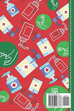 Load image into Gallery viewer, World's Best Teacher: Hand Sanitizer Themed Pattern Cover / 6x9 Daily To Do List Notebook and Christmas Card for Teacher Combo / Teacher Planner Gift For Christmas