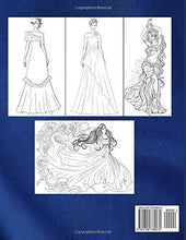 Load image into Gallery viewer, Wonderful Dresses - Coloring Book: Beautiful Women In Ball Dresses, Evening Gowns, Wedding Dresses, Belly Dancing Fashion