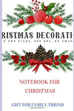 Load image into Gallery viewer, Christmas List Plan: Christmas List Notebook with Checklist Boxes and Lines To Buy GIft