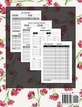 Load image into Gallery viewer, Monthly Bill Planner and Organizer: life and budget planner | 3 Year Calendar 2020-2022 Budgeting Planer with income list,Weekly expense tracker ,Bill ... Flower Design (Financial Planner Budget Book)