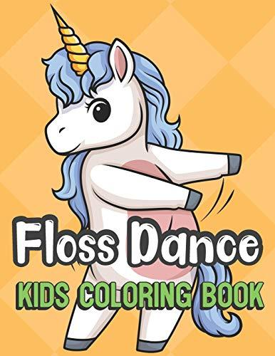 Floss Dance Kids Coloring Book: Kids and Creatures Floss Dancing Color Book for Children of All Ages. Yellow Diamond Design with Black White Pages for Mindfulness and Relaxation