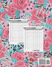 Load image into Gallery viewer, Monthly Bill Planner: Flower Pink Roses Cover | Bill Payment Checklist and Bill Tracker Log Book Organizer Planner Money Debt Family Budgeting Financial