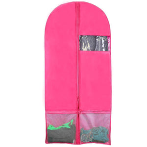Save on kernorv garment bags for dance costumes set of 5 breathable dust proof garment bags 51 dance garment bags with pockets for dance costumes dress jacket storage or travel pink