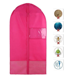 New costume garment bag with pockets for dance competitions garment bags storage hanging breathable garment covers bag rose m
