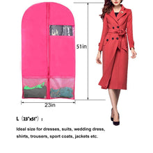 Load image into Gallery viewer, Shop kernorv garment bags for dance costumes set of 5 breathable dust proof garment bags 51 dance garment bags with pockets for dance costumes dress jacket storage or travel pink