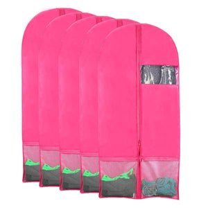 Related kernorv garment bags for dance costumes set of 5 breathable dust proof garment bags 51 dance garment bags with pockets for dance costumes dress jacket storage or travel pink