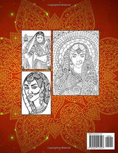 Load image into Gallery viewer, Beautiful Women of India Coloring Book: Portraits & Dancing Indian Girls For Relaxing Unwinding Moments - Adults & Teenagers