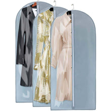 Load image into Gallery viewer, Shop here kernorv garment bags for dance costumes 49 breathable dust proof garment bags with clear panel for dance costumes dress suits coats jackets storage or travel 3pack grey