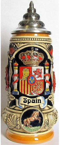 Spain Coat of Arms Spanish Matador and Dancers LE German Beer Stein .5 L