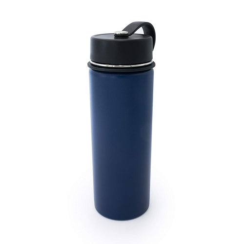 Tahoe Trails 20 oz Double Wall Vacuum Insulated Stainless Steel Water Bottle, Spectrum Blue