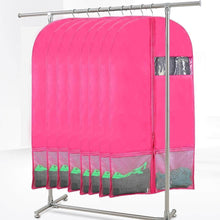 Load image into Gallery viewer, Save kernorv garment bags for dance costumes set of 5 breathable dust proof garment bags 51 dance garment bags with pockets for dance costumes dress jacket storage or travel pink