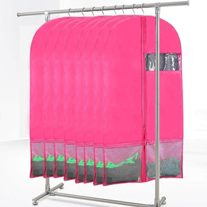 Save kernorv garment bags for dance costumes set of 5 breathable dust proof garment bags 51 dance garment bags with pockets for dance costumes dress jacket storage or travel pink