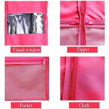Load image into Gallery viewer, Selection kernorv garment bags for dance costumes set of 5 breathable dust proof garment bags 51 dance garment bags with pockets for dance costumes dress jacket storage or travel pink