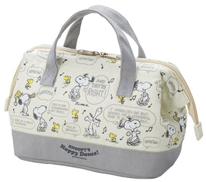 "OSK Peanuts Snoopy Lunch Bag ""Happy Dance"" TB-18 from Japan"