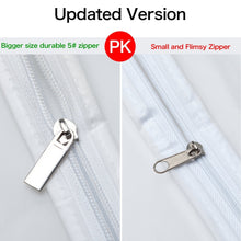 Load image into Gallery viewer, On amazon zilink garment bags for long dresses 60 inch translucent suit bag with full length zipper set of 6 for dance costumes gown dress clothes storage upgraded version