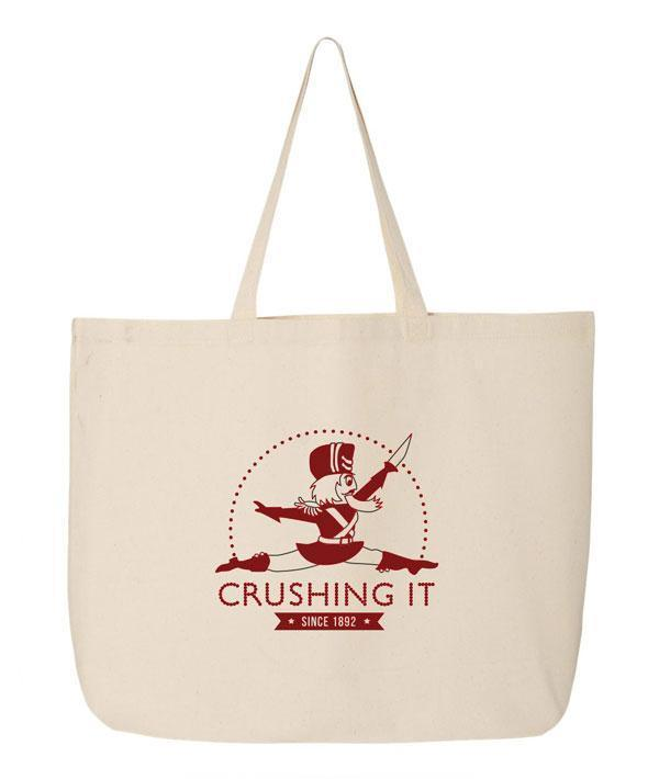 Crushing It - Red Nutcracker - Canvas Tote