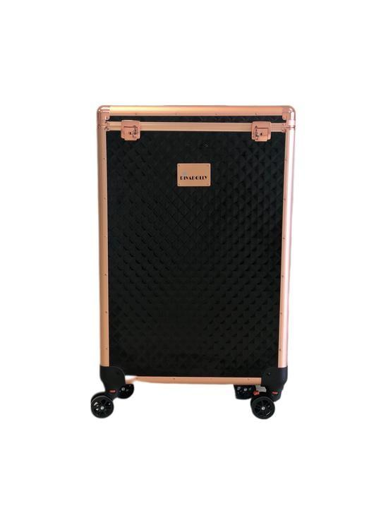 Black Diamond DivaDolly with Rose Gold Trim | Rolling Dance Bag Alternative with a Wardrobe Rack