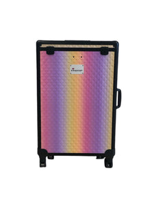 Holographic Diamond DivaDolly with Black Trim | Rolling Dance Bag Alternative with a Wardrobe Rack