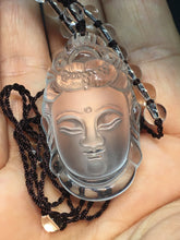 Load image into Gallery viewer, Clear Crystal Kuan Yin Pendant