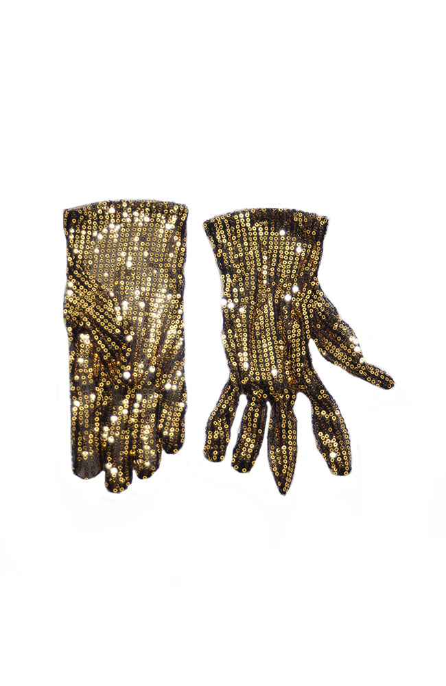 Adult G505 Gold Sequin Gloves B1