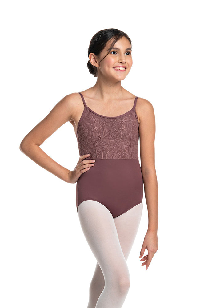 Ainsliewear 1050LLG Child Fashion Camisole Bodysuit with Lola Lace Bodice