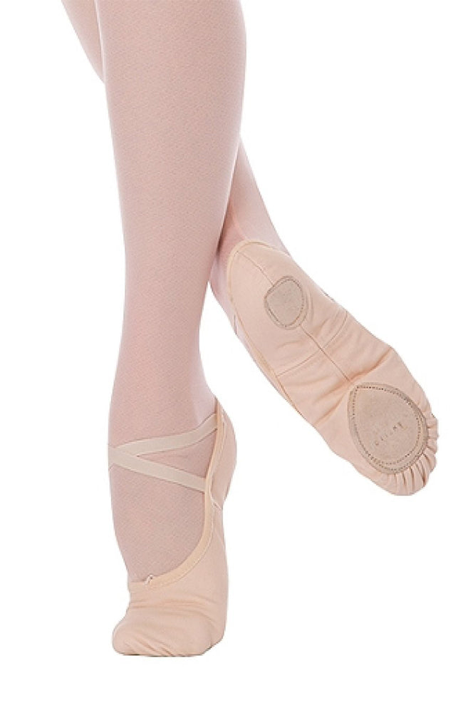 Angelo Luzio 246A Peach Stretch Canvas Split Sole Ballet Slippers