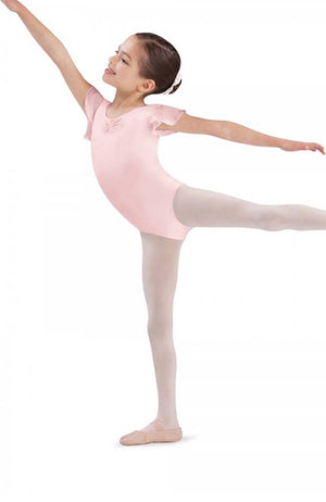 Bloch CL3732 Light Pink Sequin Tulip Sleeve Bodysuit